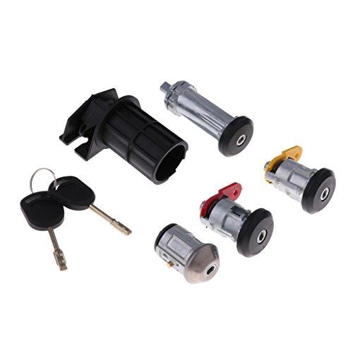 D DOLITY Car Ignition Switch & Door Lock Barrel + Key Assembly: