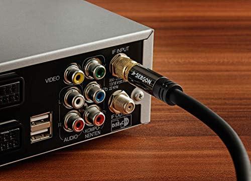 SEBSON Cable Antena Satelite TV 5m, F Connector, Macho/Macho, 105dB 75 Ohm, Sat Cable Coaxial para Televisión (HDTV, UHD, 4K), Parabolica, Radio, ...