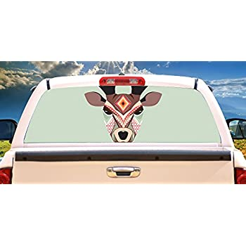 Ute Back Window Stickers Kamos Sticker - Rear window hunting decals for trucksamazoncom truck suv whitetail deer hunting rear window graphic