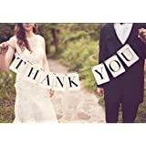 Blabroge 3m Card Paper Bunting Banner Wedding Party Sign Thank You