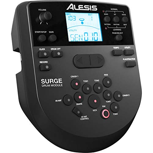 Alesis SURGE MESH KIT Eight-Piece Electronic Drum Kit with Mesh Heads + On Stage Drum Stick Holder DA100 & On Stage Maple Wood 5B (1 Pair) Of Drumsticks by Alesis (Image #3)