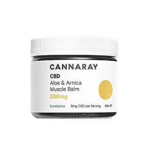 Cannaray CBD Muscle Balm, 250mg cannabidiol | with...