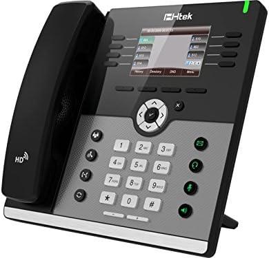 HTEK UC924 Gigabit Color VoIP IP Business Phone PoE  4-Lines NEW