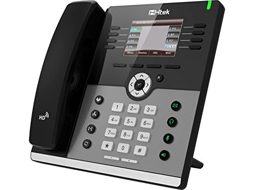 HTEK Modern Enterprise Color Gigabit IP Phone / HTEK-UC924 / (Gigabit Color Ip Phone)