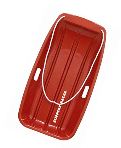 - Slippery Racer Downhill Sprinter Toboggan Snow Sled, Red