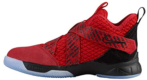 Nike Kids' Grade School Lebron Soldier XII Basketball Shoes (6, Red/Black)