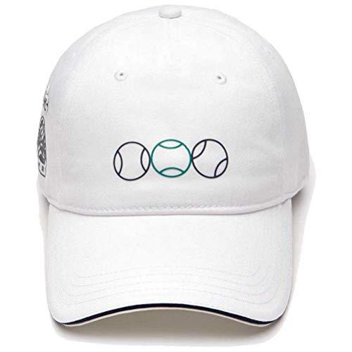 Lacoste Mens Sport Gabardine Cap, White/Navy Blue/Woodland Green, ONE