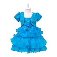 KISSOURBABY Ball Gown Spliced Party Princess Dress 2pcs Set for 3-12T Girls
