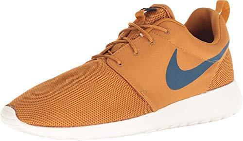 - Nike Roshe One Mens Style: 511881-700 Size: 8.5, Desert Ochre/Blue Force-sail
