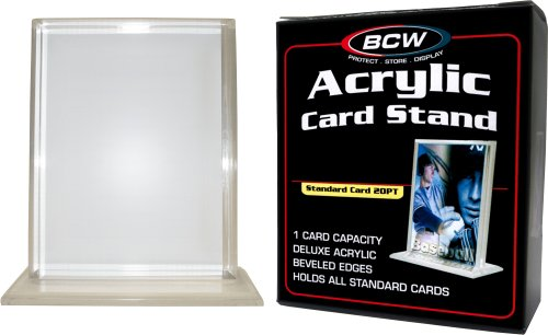 (1) Vertical Acrylic Trading Card Stand - 1/2