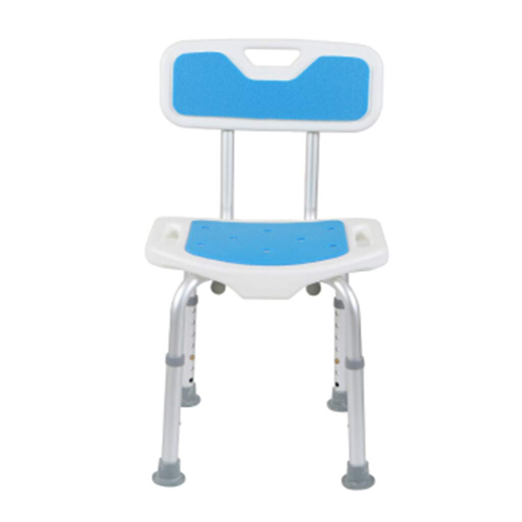 Aluminum Alloy Bbackrest Bath Stool Thickening Antiskid Bathroom Chair For The Elderly Pregnant Women And Disabled Persons Wall Mounted Shower Seats