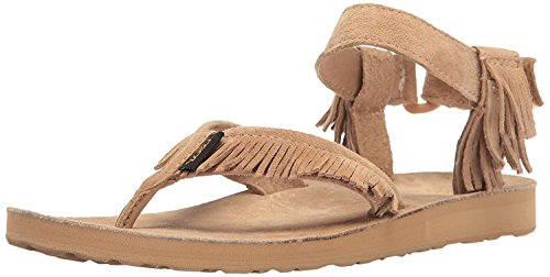 Teva Womens W Original Leather Fringe Sandal, Marrone, 40 B(M) EU/7 B(M) UK