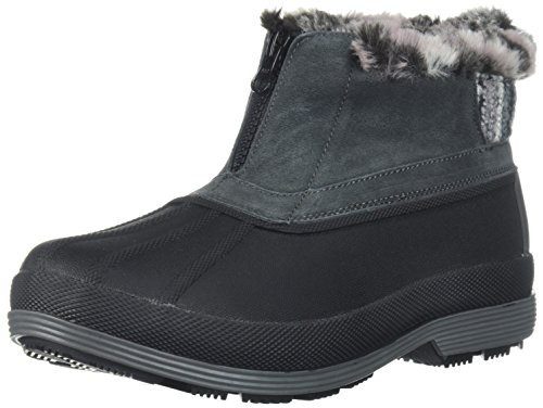 Propet Women's Lumi Ankle Zip Snow Boot, Grey, 9 2E US