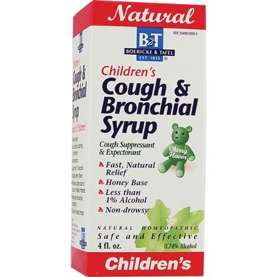 Boericke and Tafel Childrens Cough and Bronchial Syrup, 4 Ounce - 6 per case.