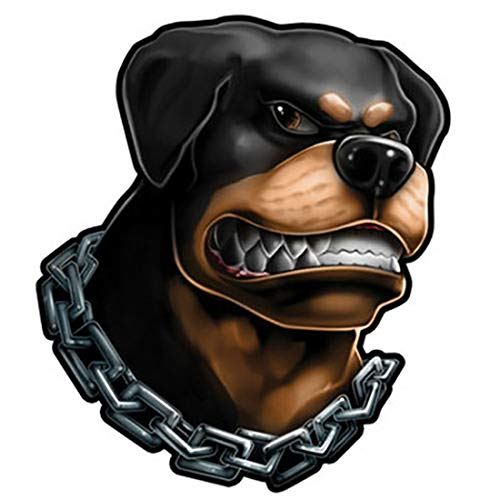 | Dog Ink | Waterproof Temporary Tattoo - Angry Black Rottweiler in Chain Body Hands Chest Shoulders Tattoos Stickers for Men Boys Kids Teens - Removable Realistic | Made in USA ()