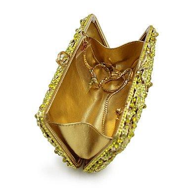 Mariage CliquetBleu Strass Soirée Sac soirée de GOLD Décontracté Toutes Fête Saisons KYS les Femme spécial Cristal Minaudière Polyester Matériel FqATnaOxw