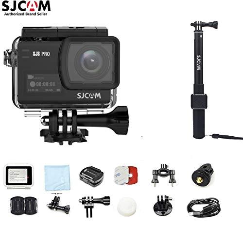 SJCAM SJ8 PRO Kit{SJ8 PRO Camera with Accessories, SJCAM Monopod}4k/60fps Sports Cam with Ambarella H22 Sensor,EIS,170°Wide-Angle 2.33