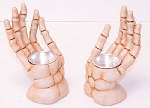 [Halloween Skeleton Hand Votice Candle Holder- 6.1