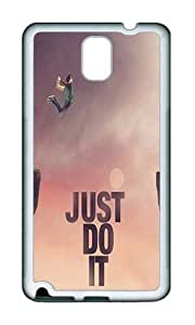 Samsung Note 3 Case,VUTTOO Stylish Just Do It Jump Cliff Soft Case For Samsung Galaxy Note 3 / N9000 / Note3 - TPU White