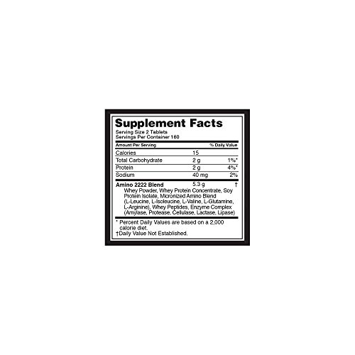 Optimum Nutrition Superior Amino 2222 Tablets, 320 Count by Optimum Nutrition (Image #1)