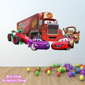 Nice 1Stop Graphics   Shop Disney Cars Wall Sticker Full Colour   Lightning  Mcqueen Mater Toy C213 Part 7