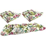 Jordan Manufacturing Outdoor 3-Piece Cushion Wicker Set, Elberta White Tea