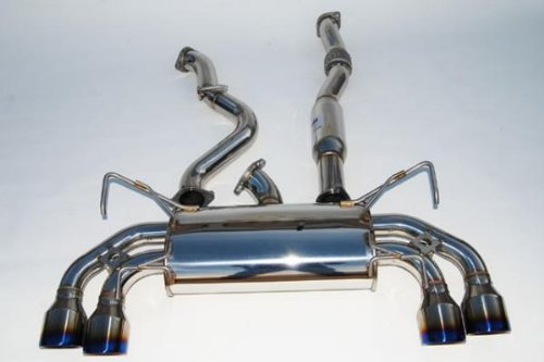 Invidia HS02SW1GRT Titanium Single Layer Racing Cat-Back Exhaust System for Subaru WRX STI ()