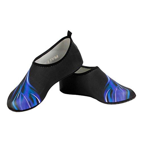 scarpe pelle antiscivolo pelle 1 con L Slip calzini nudi Unisex suola Aqua piedi a RUNACC paio calzini acqua on 5qtnZwBn