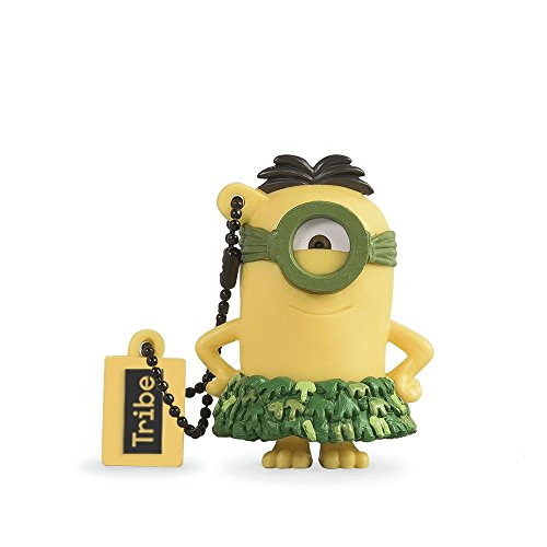 Tribe FD021514 Minions Despicable Me Au Naturel USB Stick 16GB Pen Drive, Gift Idea 3D Figure, PVC USB Gadget with Key holder Key Ring, (Novelty Stick)