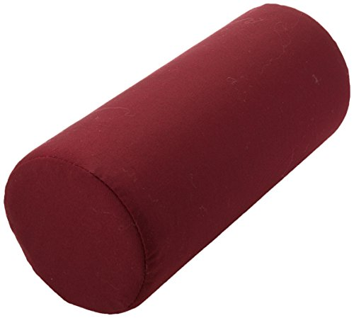 Sammons Preston Firm Lumbar Roll, Seat Cushion with Adjustable Strap for Lower Back Pain Relief, Backrest for Car or Office Chair, Support Pillow for Posture & Comfortable Spine Position, Burgundy
