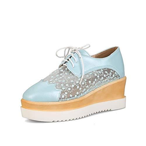 Comfort Mujer de Sneakers ZHZNVX Poliuretano Blue Rosa Summer Creepers PU amp; Azul Blanco Zapatos Spring Wqwp4nqz8T