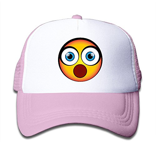 Price comparison product image Show Time OMG It's Huge Emoji Boy's & Girl's Cap Summer Cap Lightweight Mesh Flexfit Pink