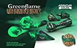 PolyHero Dice: Wizard 7-Dice Set: Greenflame with Burnished Bronze