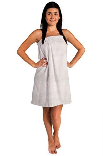 Waffle Spa - Bath Towel Wrap (One Size, White)