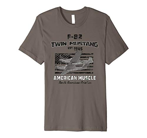 (F-82 Twin Mustang Airplane American Muscle Vintage Premium T-Shirt)