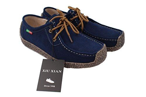 xiu-xian-women-snail-casual-lace-up-genuine-leather-flat-sneaker-shoes-9-blue