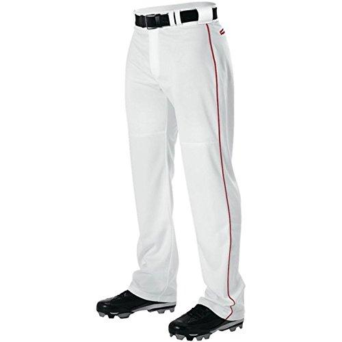 AllesonメンズワープニットBraided野球パンツ B00I7T88YG Small|ホワイト/スカーレット ホワイト/スカーレット Small