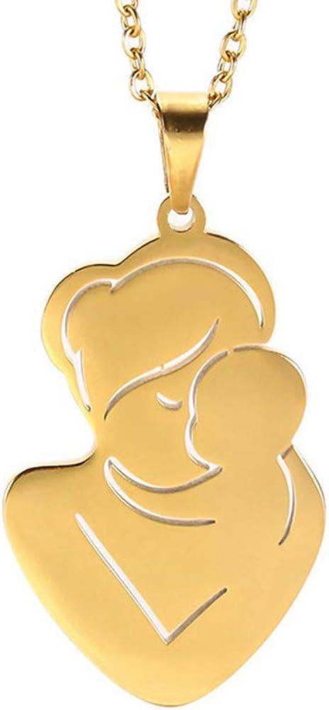 Grand Made Collar Familiar Personalizado Color Dorado Bebé Embarazada Regalo del día de la Madre Amor del Padre Acero Inoxidable Mujeres Chica Collar Colgante Personalizado Joyería