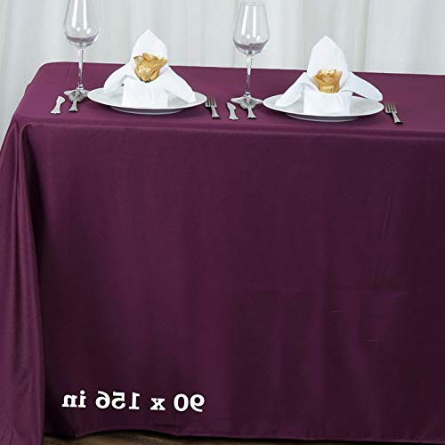 (Mikash 90x156 Polyester Tablecloth Wedding Table Linens Catering Decorations Supply | Model WDDNGDCRTN - 15988 |)