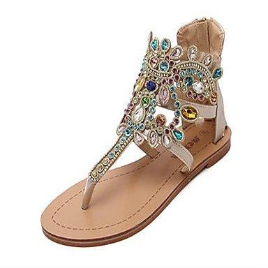 CN36 PU de US6 Confort tacones verano Las sandalias Plata mujeres de casuales UE36 Gold UE RUGAI zapatos UK4 qvwxBay