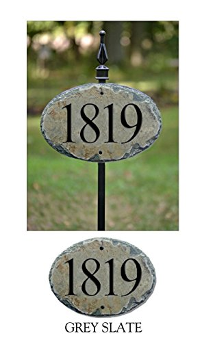 CARVED STONE House Numbers Address Sign with 36
