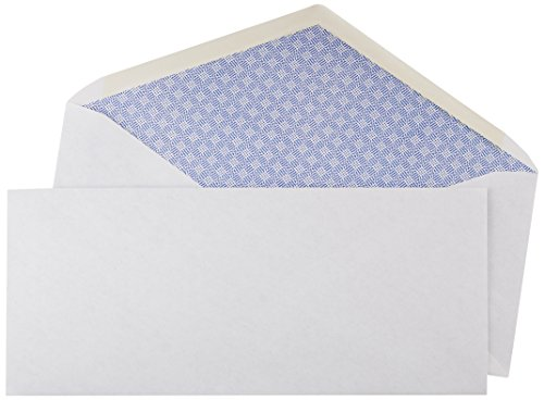 AmazonBasics #10 Security Tinted Envelopes - 4 1/8-Inch x 9.5-Inch (500 Pack) (9 1/2 White 500 Envelopes)