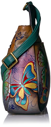 Anuschka Paradise Medium Leather Anna Butterfly Handpainted Paradise Cross Body Butterfly gqgFrB
