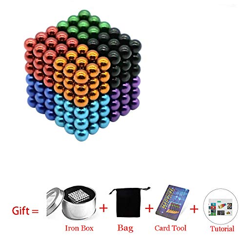 Magnetic Cube 216/512/1000pcs 5mm Magnets Blocks Magnetic Square Cube Children's Puzzle Magic Cubes DIY Educational Toys for Kids Intelligence Development and Stress Relief (216pcs 8 color)