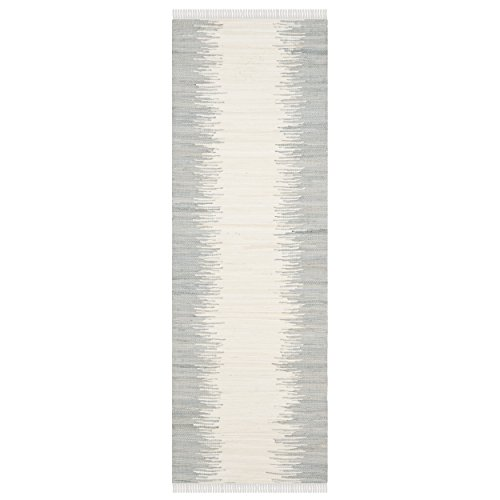 Safavieh Montauk Collection MTK751K Handmade Flatweave Grey Cotton Runner (2'3