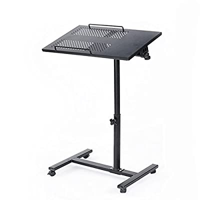 Unicoo - Height Adjustable Laptop Cart Laptop Notebook Stand Over Sofa Bed Table Stand