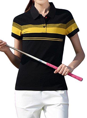 水族館確執スーツケースZhongJue(ジュージェン) レディース 半袖 tシャツ 切り替え ポロシャツ ゴルフ スポーツ コットン 夏服 大きいサイズ ゴルフシャツ スポーツウェア カジュアル トップス