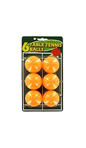 Table Tennis Balls in Orange - Set of 24 by Kole Imports