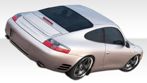 Duraflex Replacement for 1999-2004 Porsche 911 Carrera 996 C2 C4 Turbo Look Rear Bumper Cover - 1 Piece ()