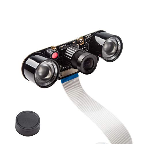 Smraza Camera Module for Raspberry Pi 4 with 5MP 1080p OV5647 Video Webcam Supports Night Vision Compatible with Raspberry Pi 3 B+ / 3B / 2 Model B B+